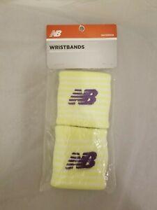 New Balance Yellow Purple Embroidered Performance Sweatbands Wristbands