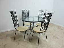 Salterini Vintage Outdoor Patio Porch Dining Table 4 Chairs Set