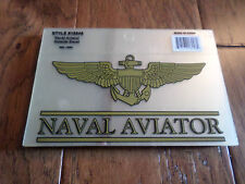 U.S MILITARY NAVY NAVAL AVIATOR WINGS WINDOW DECAL STICKER OFFICIAL NAVY PRODUCT