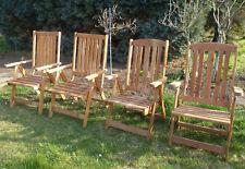 4 Gartenstühle Holz, klappbar, in 2 leicht unterschiedlichen Ausführungen