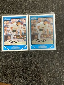 (2) 2007 Bowman Chrome Draft Clayton Kershaw Rookie Cards RC #BDPP77 Dodgers USA