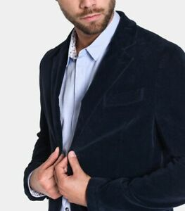 Giacca uomo in velluto liscio officina 36 articolo Dave blazer man blu