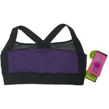 Zumbawear NWT XSpicy 'Mesh with Me' Dance Workout Sports Bra Purple Black Straps