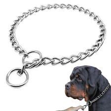 P Choke Training Pet Dog Collar Chrome Stainless Steel for Medium Large Dogs