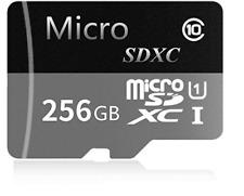Tarjeta Micro Sd Sdxc De 256Gb, Tarjeta De Memoria Tf De Clase 10 Con Adapta...
