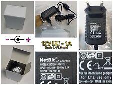 ALIMENTATORE 12V 1 A AMPERE PER ARDUINO TELECAMERA STRISCIA LED 1.3/3.4mm CCTV
