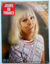 ►JDF 720/1968-MYLENE DEMONGEOT-MAURICE CHEVALIER-MIREILLE MATHIEU-ZIZI JEANMAIRE