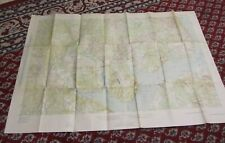 1926 Us Army Fort Humphreys and Vicinity Fire Control Map Virginia Maryland