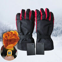 Black Heated Gloves Battery Powered Motorcycle Hunting Winter Warmer Outdoor