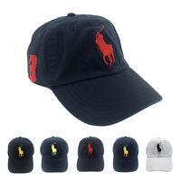 POLO Big Pony Baseball Cap 100% Cotton Dad Hat Visor Sunhat Adjustable Size