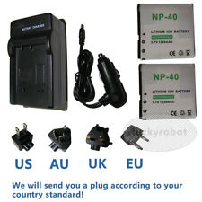 2pk new Battery + charger for DXG PAC-0040 NP-40 NP40 and CASIO NP-40 NP-40DBA