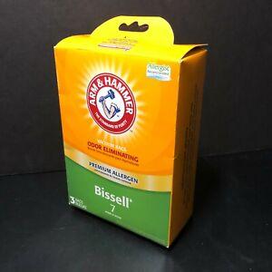 Arm & Hammer 3 Vacuum Bags | Odor Eliminating | Premium Allergen |Bissell 7 |New