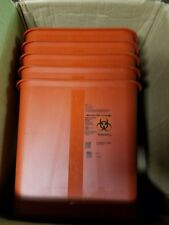 Covidien Biohazard Sharps Container w/ Rotor Lid 2 Gal. Red SRRO100970 - QTY 5