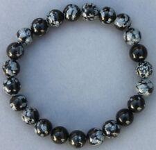 """Bracelet Obsidienne neige 8 mm """"Médium"""""""