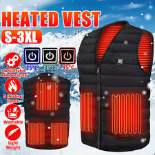 Electric Vest Heated Cloth Jacket USB Warm Up Heating Fleece Pad Body Warmer Men
