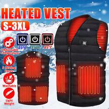 Electric Vest Heated Cloth Jacket USB Warm Up Heating Fleece Pad Body Warmer Men