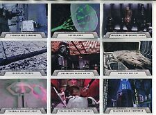 Star Wars Rogue One Mission Briefing Complete Death Star Chase Card Set #1-9