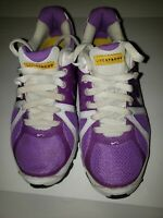 NIKE SHOX sz 6 Live Strong Flywire  shoes Purple/white/yellow Great Cond. Preown