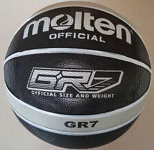 Molten BGR7-KS Premium Rubber Basketball - Black and Silver 29.5 Men's Size 7