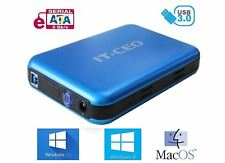 "IT735 USB 3.0 External Hard Drive Enclosure for 3.5"" SATA HDD w/ USB3 Lead Blue"