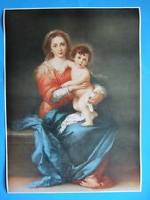 "Catholic Print Picture Mary Madonna & Child Jesus Murillo large 20x28"" Poster"