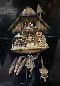 German Black Forest cuckoo clock  Romance No 2710 With Swiss Movement Edelweiss