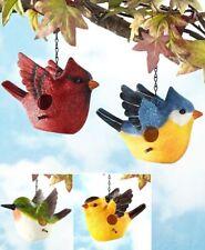 Bird Shaped Birdhouse Bluebird Cardinal Hummingbird Balcony Patio Porch Tree Art