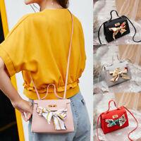 Small Women Shoulder Bag PU Leather Envelope Crossbody Messenger Handbag Purse