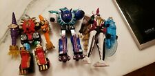 3 Triceramax Megazord Power Rangers Dino Thunder Bandai 2003 Blizzard Force Lot