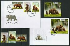Slovenia 2019 ☀ Complete issue - Animals Brown Bear ☀ stamps+MSS+2 FDC