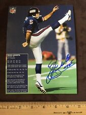 SEAN LANDETA NY GIANTS SUPER BOWL CHAMPION FUTURE H.O.F PUNTER With Proof