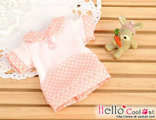 ☆╮Cool Cat╭☆39.【NF-05】Blythe/Pullip Flat Collar T-Shirts # Dot/Coral