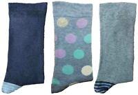 3 Pairs of Ladies JA1 Patterned Cotton Socks by Jennifer Anderton , UK Size 4-8
