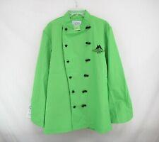 Culinary Classics Men's Lime Green Black Knot Chef Jacket Coat Size M #I-91