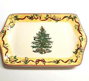 "Spode Portmeirion Christmas Tree Annual Dessert Tray 12"" Holiday Serveware"