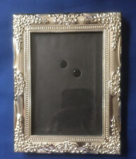 Vintage Style Embossed Silver Tone Photo Frame