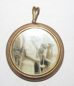 VINTAGE ROLLED GOLD DOUBLE SIDED PICTURE LOCKET