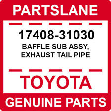 17408-31030 Toyota OEM Genuine BAFFLE SUB ASSY, EXHAUST TAIL PIPE