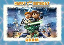 Personalised birthday card star wars lego son grandson son  boy friend