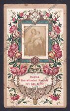 SANTINO 185 MADONNA DEL ROSARIO - HOLY CARD IMAGE PIEUSE Lit. S. GIUSEPPE MODENA