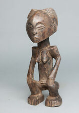 Luba Female Statue, Congo, Zambia, African Tribal Arts