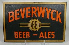 Old Beverwyck Beer & Ale Composition Back Bar Display Sign Brewing Albany NY