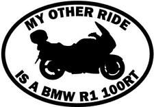 My Other Ride Is A Bmw R1 100Rt Motorcycle Car Window Vinyl Decal Sticker
