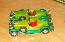 Matchbox Yesteryear Y14 Stutz Bearcat Green Maroon Seats Issue 4