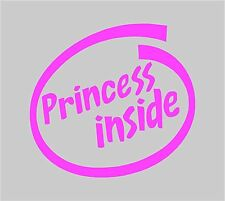 Princess Inside Sticker Decal Graphic Vinyl Label Pink