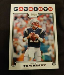 2008 Topps Tom Brady NFL MVP #328 football card New England Patriots mint