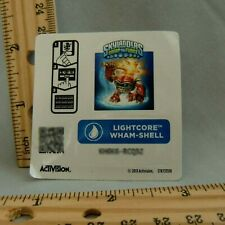 Skylanders Sticker Code Only LIGHTCORE WHAM-SHELL Activision Swap Force Water 13