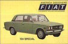 Car Fiat 124 Special 1950s-60s Postcard bck
