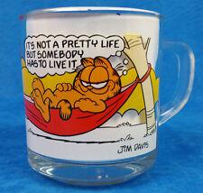 Garfield and Oddie Comic Strip Glass Coffee Mug Cup by McDonald's Jim Davis Nice