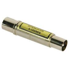 Philex VHF / UHF 12 dB fisso in linea metallo ATTENUATORE Cavo Coassiale Spina a Presa